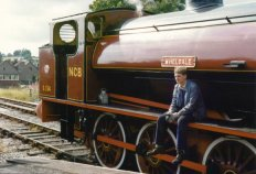 Driver with Wheldale in platform 2 at Embsay. (C) Andy Lister