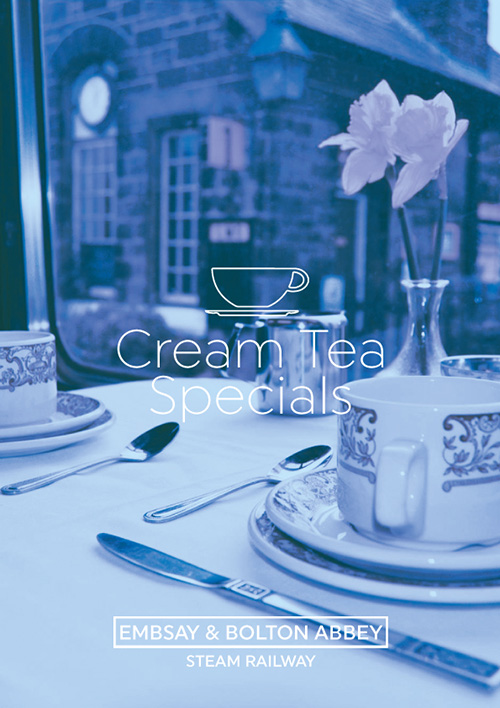 Cream Teas on a Steam Train through the Yorkshire Dales!