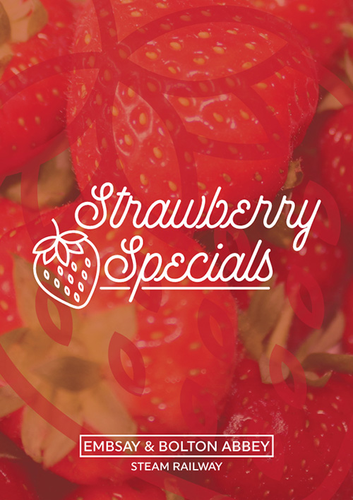 Strawberry Specials on a Steam Train through the Yorkshire Dales!