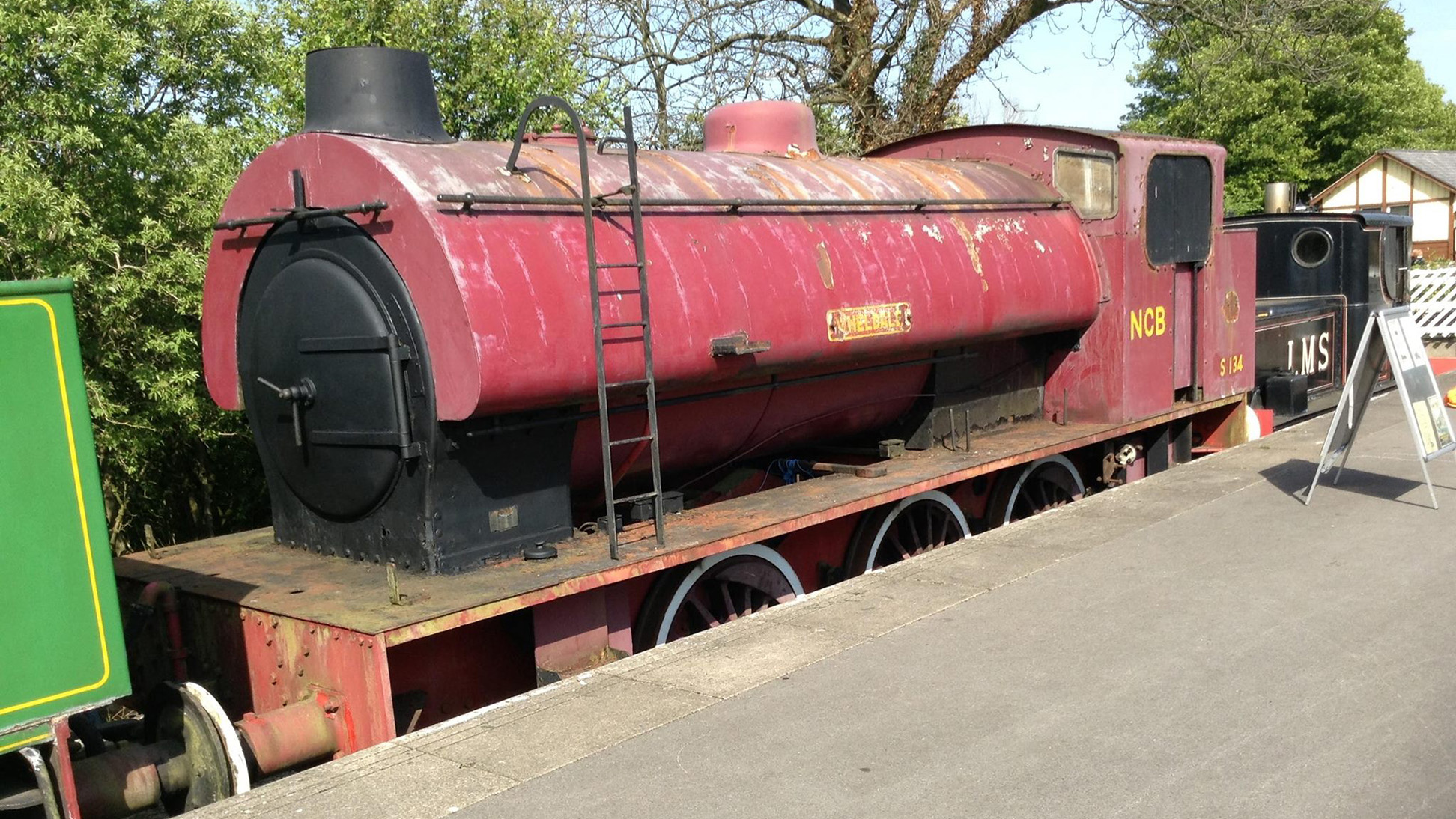 Wheldale - a sorry sight at the end of Bolton Abbey Station - help us raise funds for her restoration!
