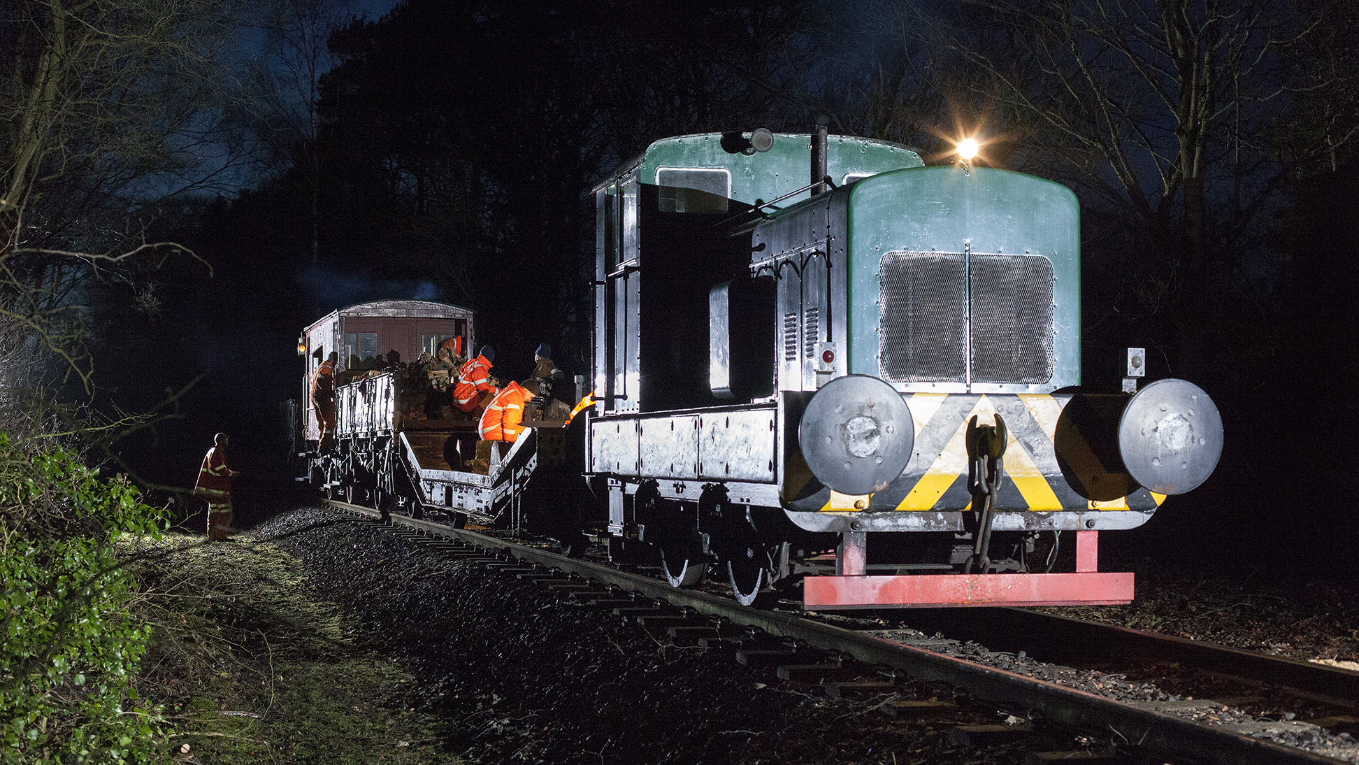 Lineside clearance works. Embsay & Bolton Abbey Steam Railway. 10/01/15