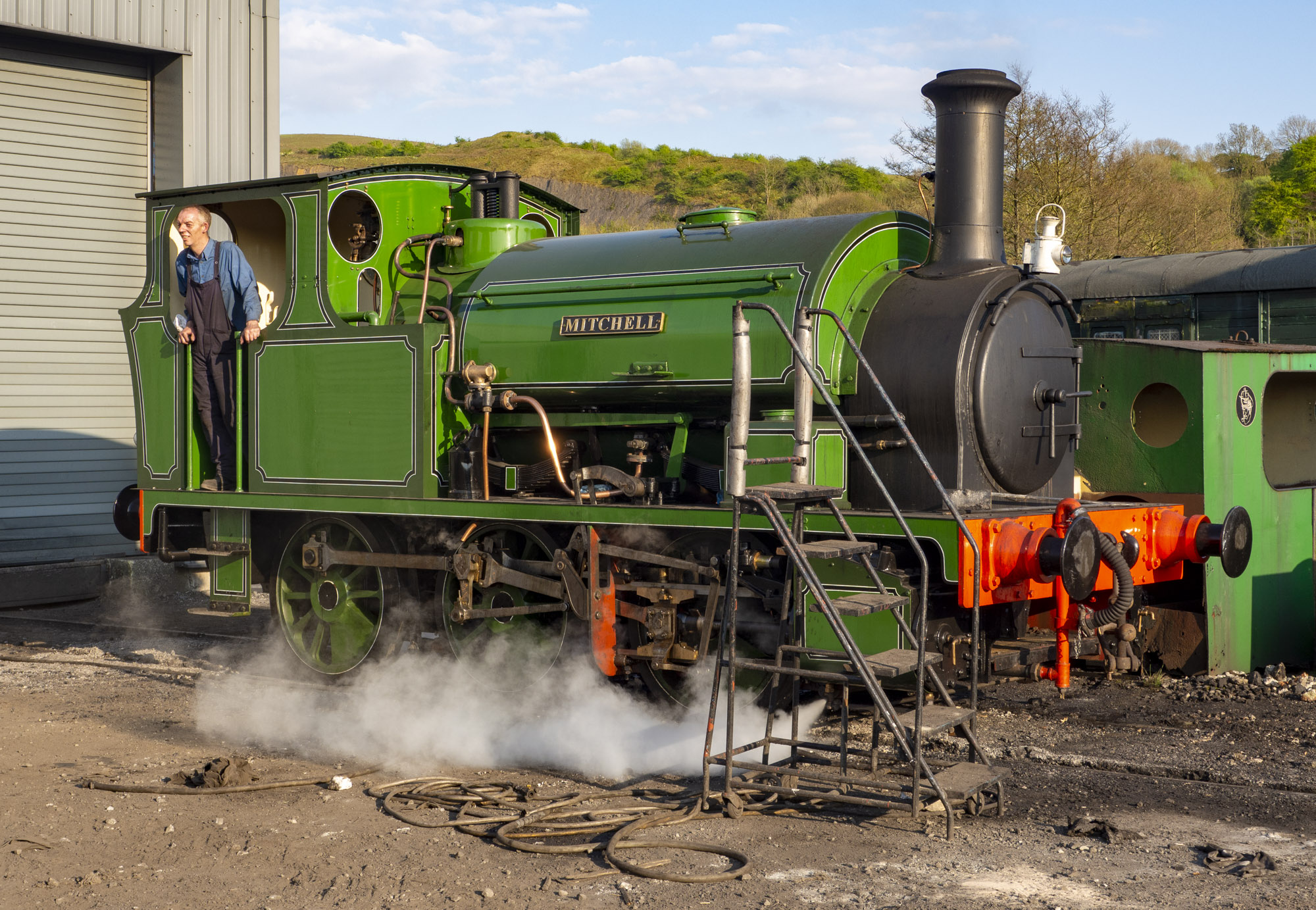 Illingworth, Embsay station, 6th May 2018 (David Oxtaby)