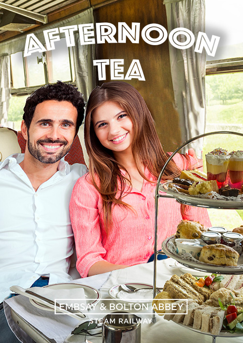 Cream Teas on a Steam Train through the Yorkshire Dales!